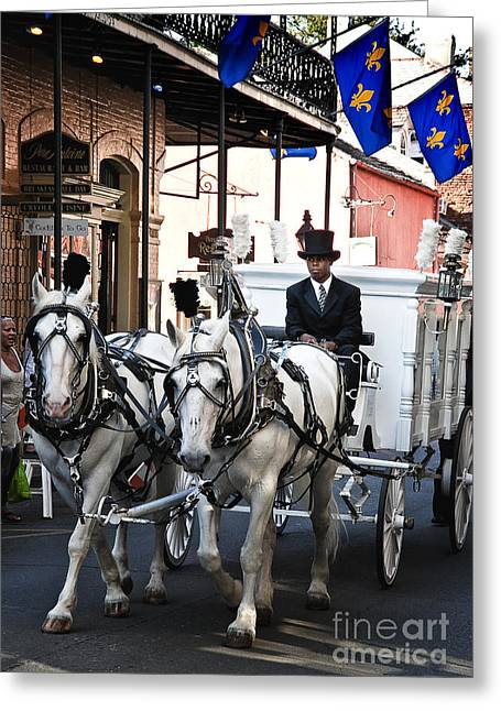 Horse Drawn Carriage Color Greeting Card by Kathleen K Parker