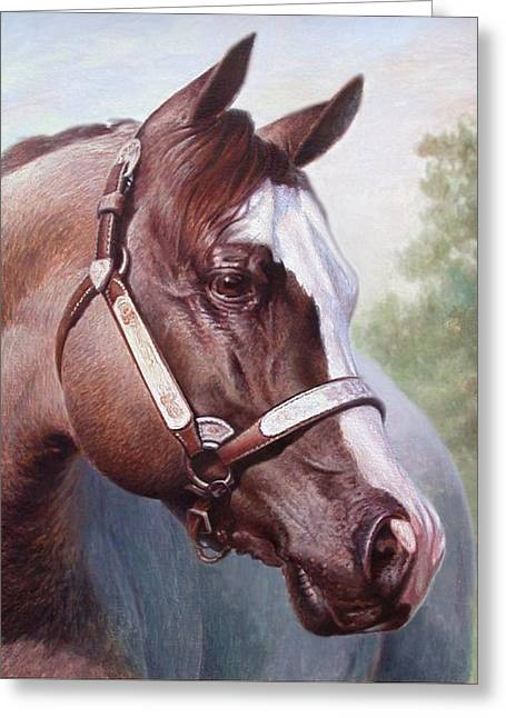 Horse Portrait 2 Greeting Card