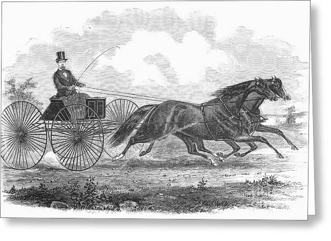 Horse Racing, 1862 Greeting Card