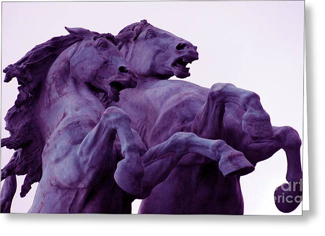 Horse Sculptures Greeting Card by Angel  Tarantella