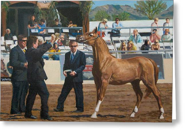Horse Show Greeting Card by Joanna Franke