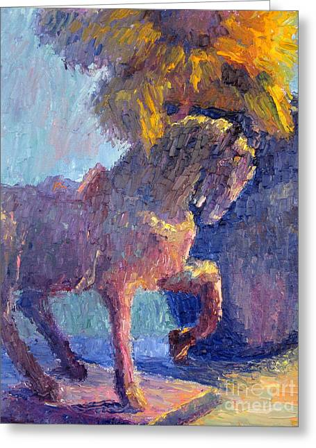 Horse Statue Greeting Card by Terry  Chacon
