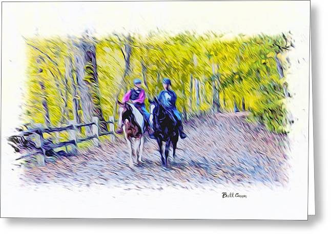Horseback Riding  Greeting Card by Bill Cannon