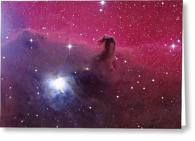 Horsehead Nebula Greeting Card by Mpia-hd, Birkle, Slawik