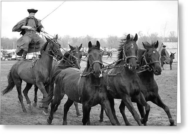 Horsepower Greeting Card by Zsolt Varga