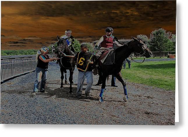 Greeting Card featuring the digital art Horses 001 by Dorin Adrian Berbier