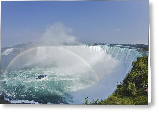 Horseshoe Falls And The Maid Greeting Card by Darwin Wiggett