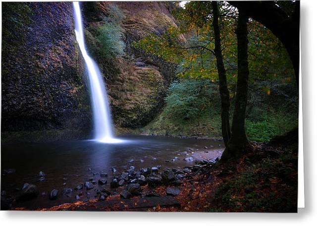 Greeting Card featuring the photograph Horsetail Falls by Matt Hanson