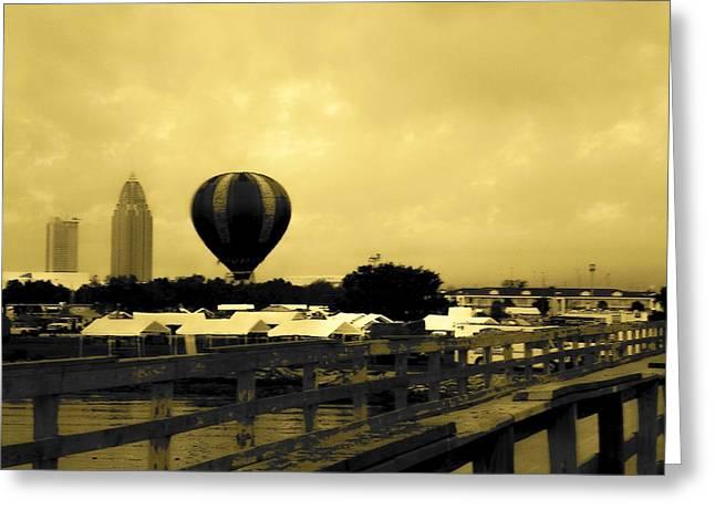 Hot Air Balloon Greeting Card by Floyd Smith