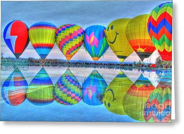 Hot Air Balloons At Eden Park Greeting Card