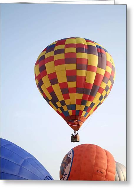Hot Air Balloons Greeting Card by Chris Martin-bahr