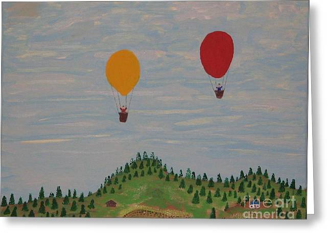 Hot Air Balloons Greeting Card by Gregory Davis