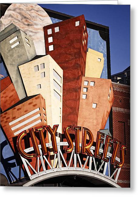 Hot City Streets Greeting Card by Joan Carroll