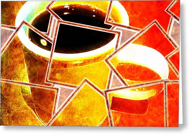 Hot Coffee 01 Greeting Card by Ana Tirolese