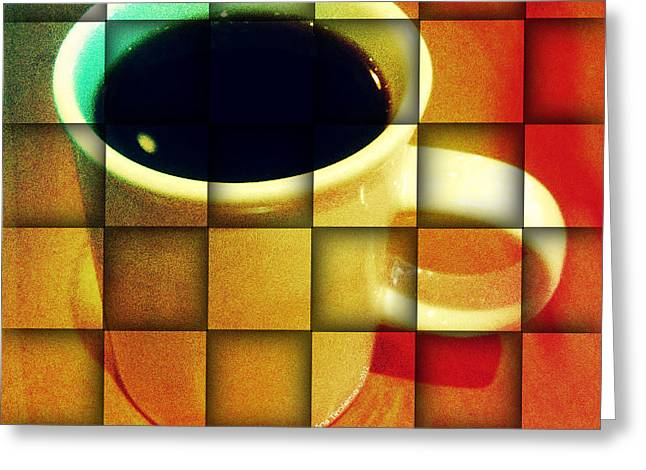 Hot Coffee 02 Greeting Card by Ana Tirolese