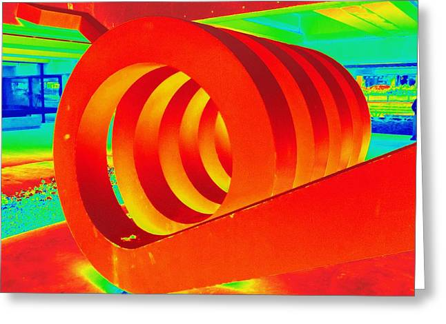 Hot Coil Greeting Card by Randall Weidner