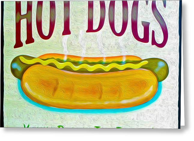 Hot Dog's - Relish The Flavor Greeting Card