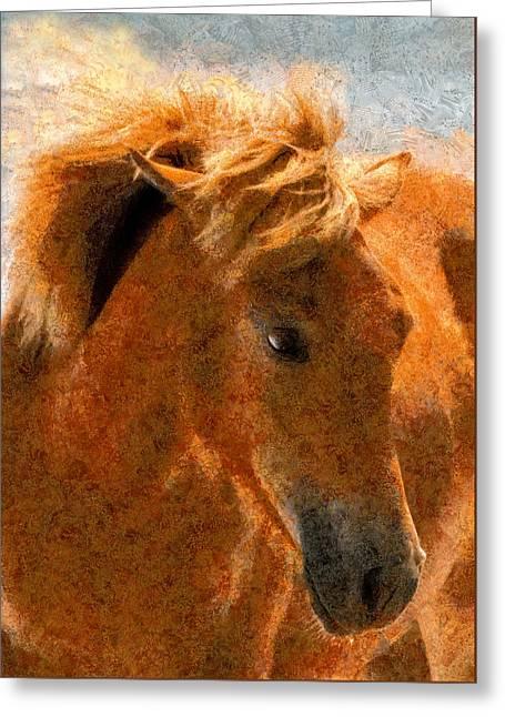 Hot Ginger Greeting Card by Georgiana Romanovna