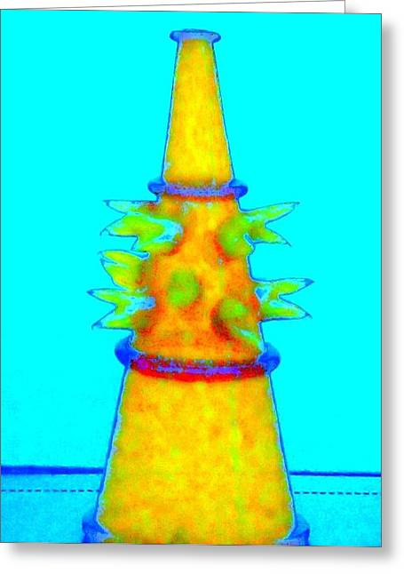 Hot Glass 72 Greeting Card by Randall Weidner