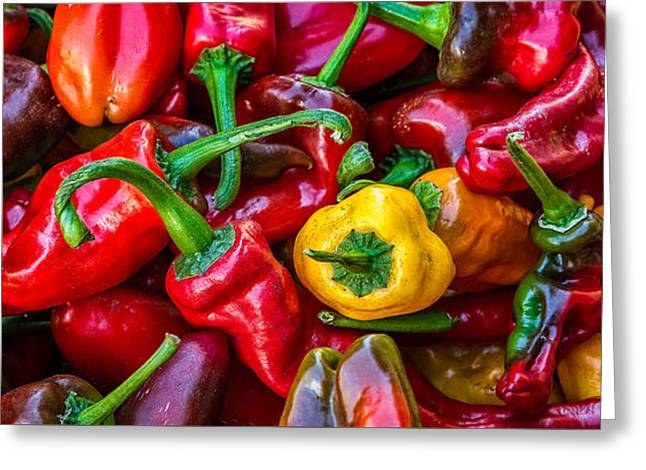 Hot Pepper Time Greeting Card by Ken Stanback