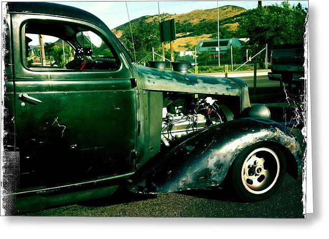 Hot Rod Greeting Card by Nina Prommer