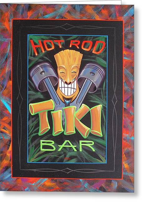 Hot Rod Tiki Bar Greeting Card