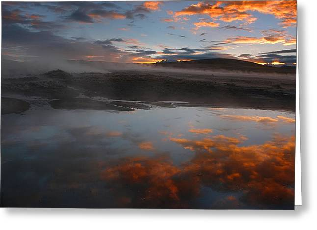 Hot Springs In The Bolivian Altiplano. Greeting Card by Eric Bauer