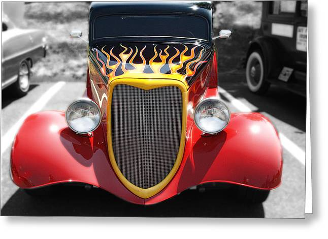 Greeting Card featuring the photograph Hot Wheels   by Raymond Earley