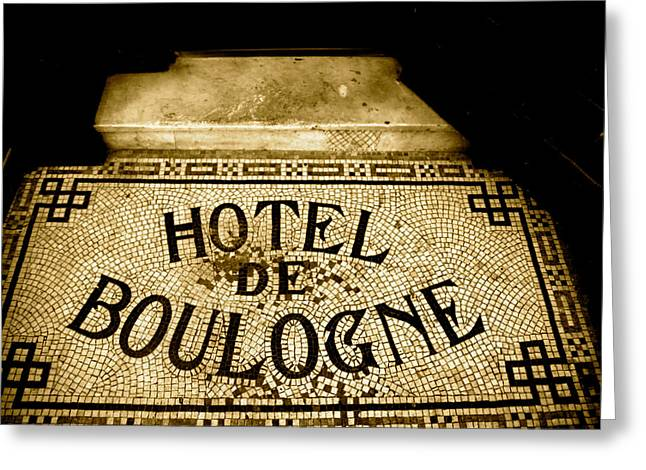 Hotel De Boulogne Greeting Card by Jez C Self