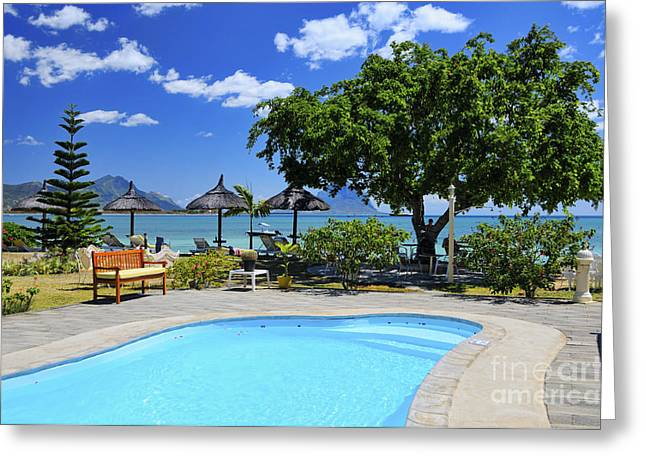 Hotel Dream - Mauritius Greeting Card by JH Photo Service
