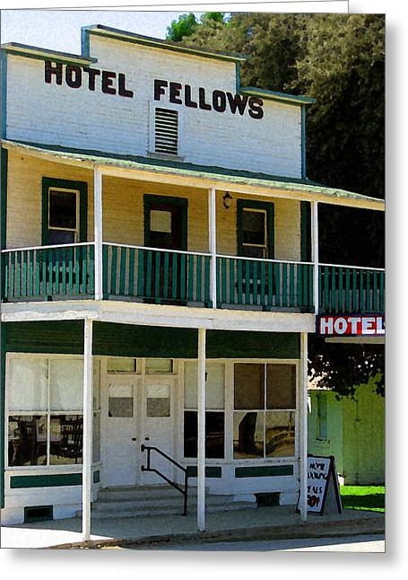 Hotel Fellows 2 Greeting Card