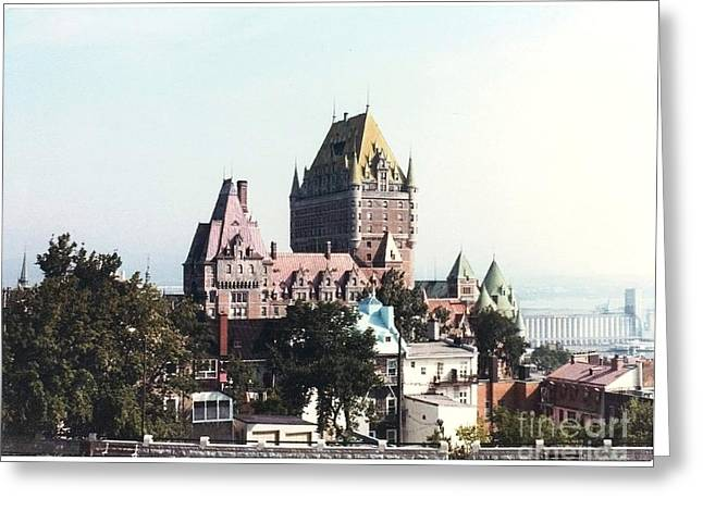 Hotel Frontenac Quebec Canada Greeting Card by Cedric Hampton