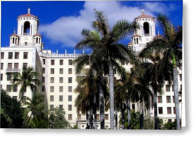 Hotel Nacional De Cuba Greeting Card by Karen Wiles