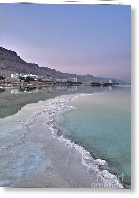 Hotel On The Shore Of The Dead Sea Greeting Card by Noam Armonn