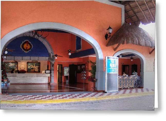 Hotel Riu Lupita Lobby Greeting Card