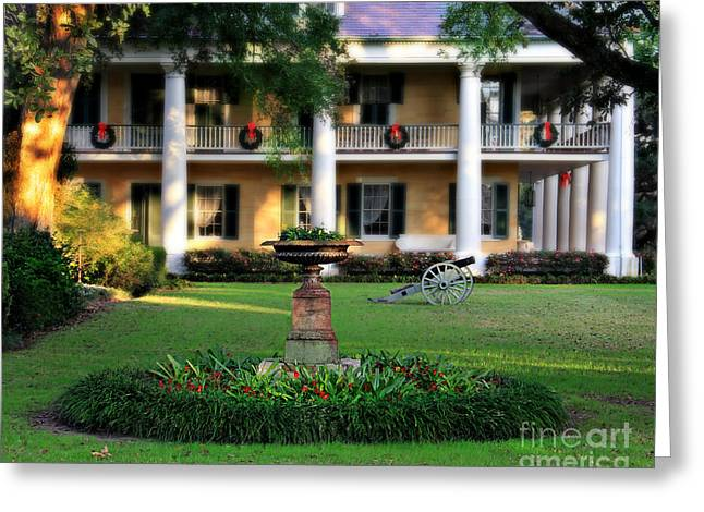 Houmas House Plantation Garden Greeting Card by Perry Webster
