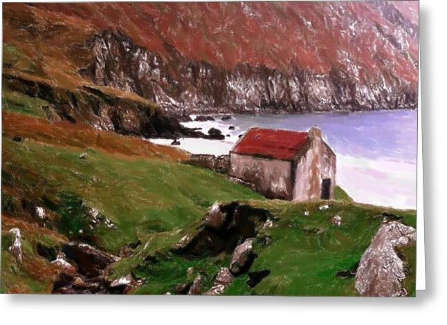 House At The Coast Greeting Card by Steve K