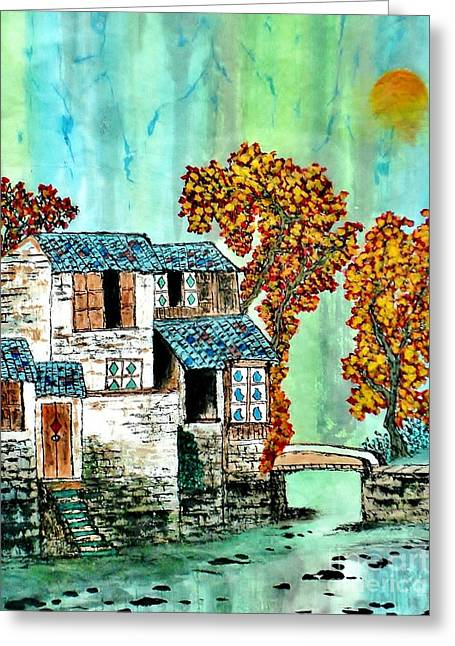 House By The River Greeting Card