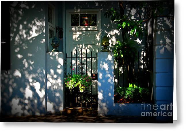House Door 11 In Charleston Sc  Greeting Card by Susanne Van Hulst