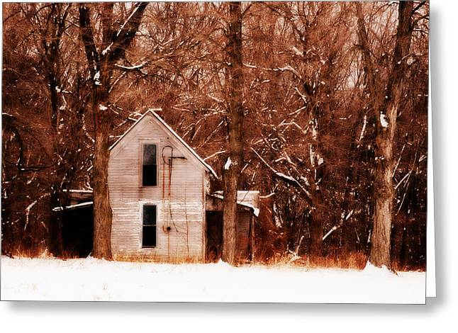 House In The Woods Greeting Card by Cheryl Helms