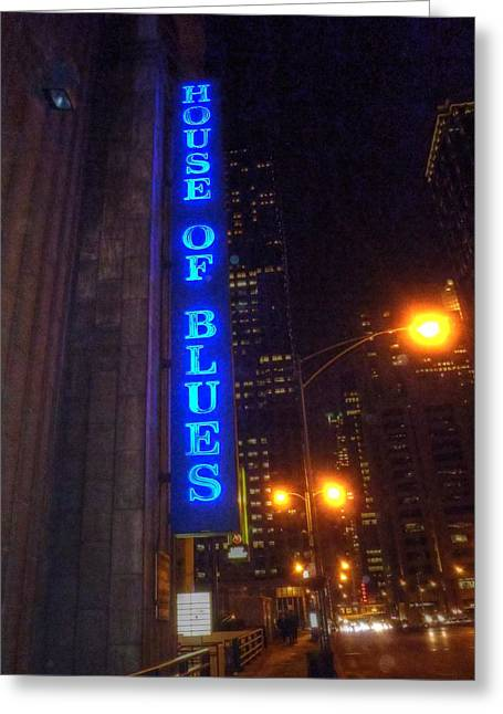 House Of Blues Greeting Card by Barry R Jones Jr