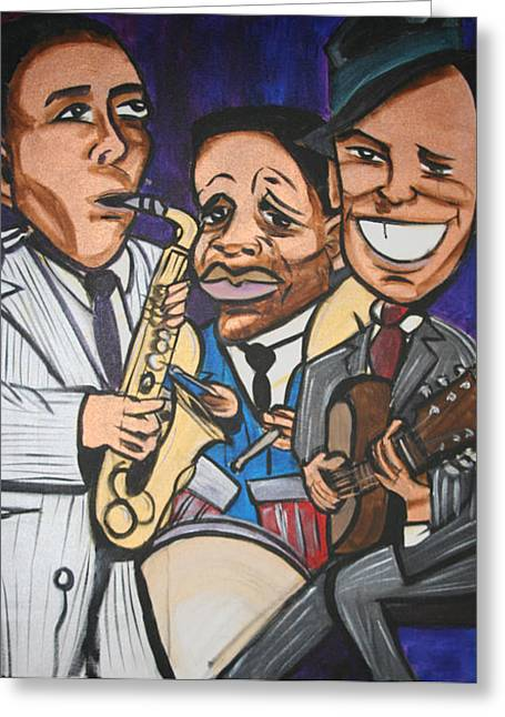 House Of Blues Greeting Card by Christopher Holtwick