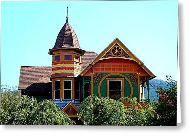 House Of Many Colors Greeting Card by Nick Kloepping