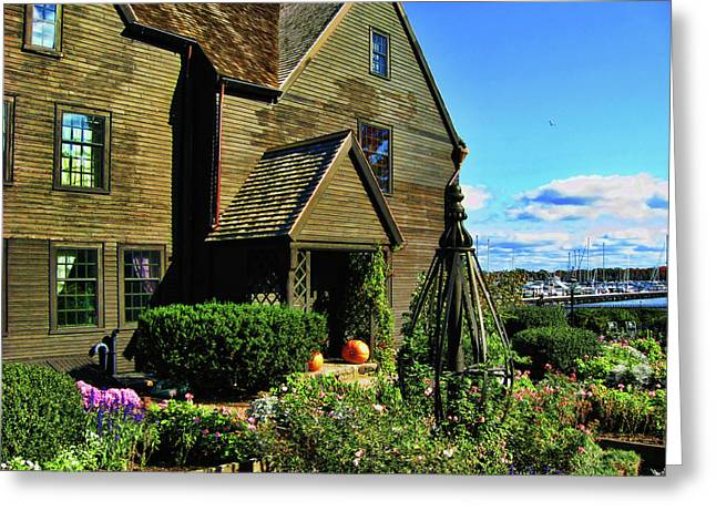 House Of The Seven Gables Greeting Card by Lourry Legarde