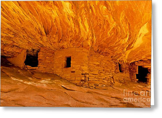 House On Fire Ruin Greeting Card by Bob and Nancy Kendrick
