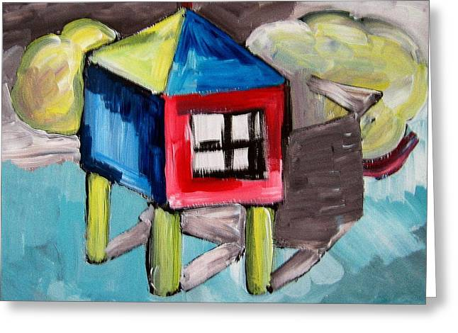 House On Stilts Greeting Card by Robert Bruce
