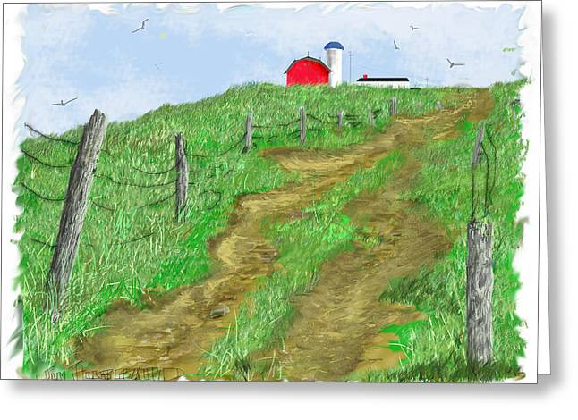 House On The Hill-summer Greeting Card by Jim Hubbard