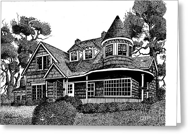 House Portrait Greeting Card by Peter Cornelis