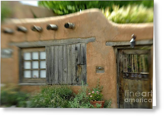 House With A View Greeting Card by Tamera James
