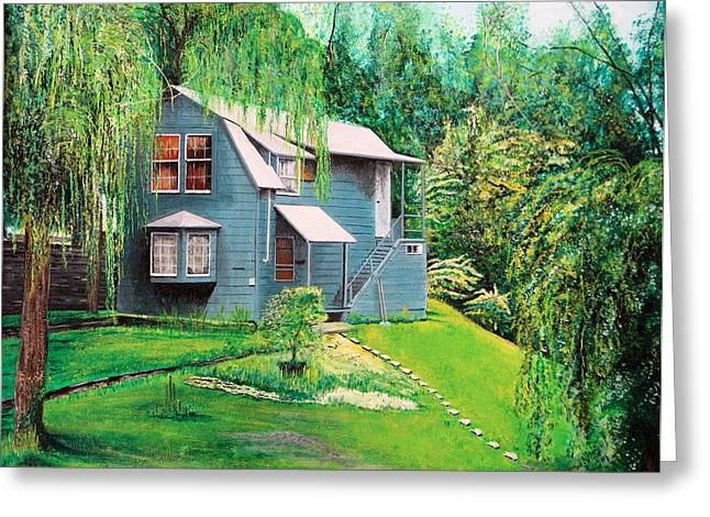 House Woodstock Ny Greeting Card
